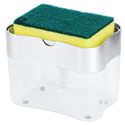 Dispensador de jabón Botellas + Esponja, Tipo de prensado 2 en 1...
