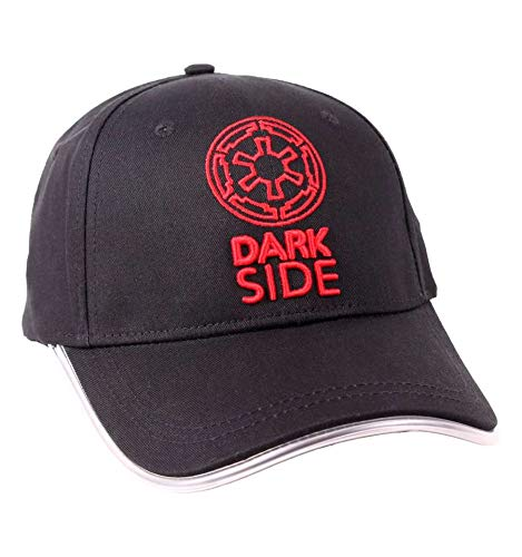 Star Wars Gorra de béisbol Logotipo Darkside Imperio Galáctico con Brillo Sobre The Last Negro Jedi