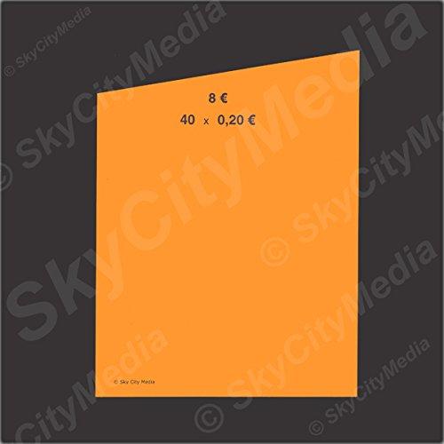 Münzrollpapier für Euro Münzen je 50x (0,20 € Papier) für Geldrollen/Rollgeld Münzrollenpapier/Handrollpapier/NEU