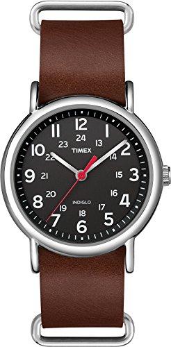 Timex Herren Quarz Uhr mit Leder Armband TW2R63100
