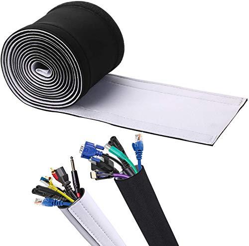 CCHKFEI Manguitos de gestión de cables, de neopreno ajustables para ordenar cables...
