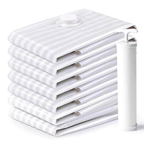 YUTRD ZCJUX Vacío de Almacenamiento Premium Bag Bolsas de Almacenamiento de 6 Paquetes (100 * 70cm), Ahorro de Espacio for la Ropa de Cama edredones Almohadas edredones