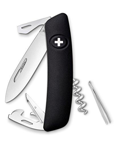 Swiza Schweizer Messer D03 Gesamtlänge: 16.7cm, Graphite/Schwarz, 75 mm
