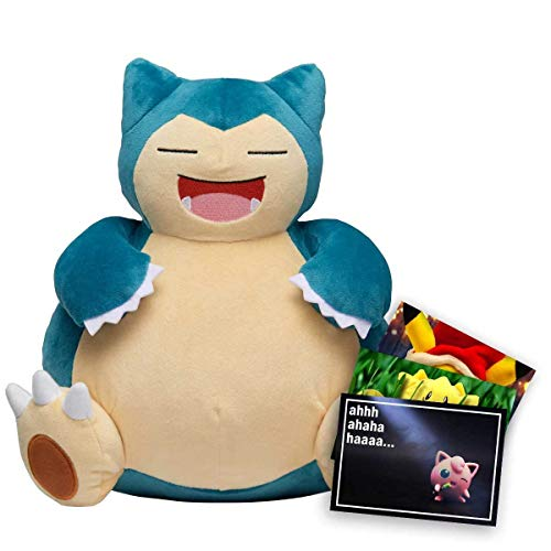 Lively Moments Pokemon Plüschtier / Kuscheltier Relaxo (Snorlax) ca. 30 cm und Exklusive GRATIS Grußkarte