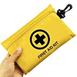 Small First Aid Kit, 100 Pieces Compact Waterproof Mini Emergency Survival Kit FDA OSHA Compliant for Home,...
