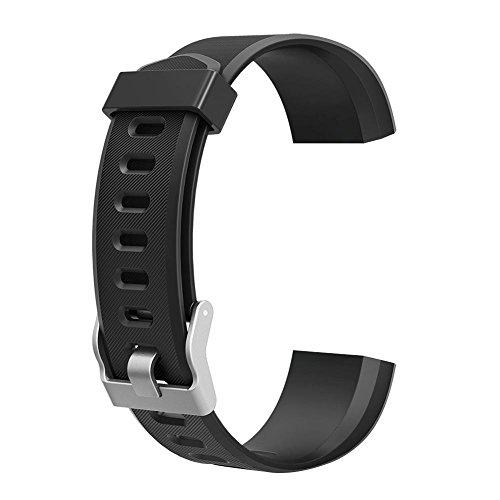 Junerain colorato metallo di accessori di ricambio per ID115PLUS HR Smart Watch Nero