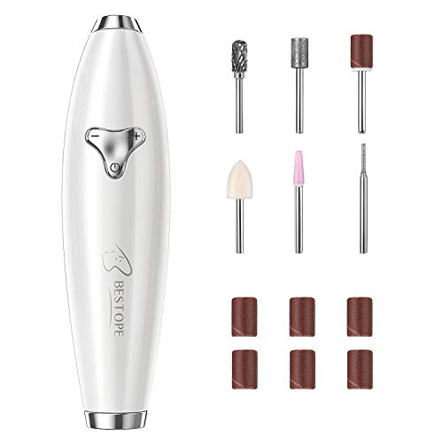 Electric Nail Drill BESTOPE【2020】New Design USB Manicure Pedicure Kit Professional Efile Nail Machine for Acrylic Nails, Gel Nail Care Polisher Shape Tools Portable Design for Home Travel Salon