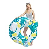 "JOYIN Inflatable Lounger, Pool Lounger Chair Float for Swimming Pool Party Decorations, Inflated Size 44"" x 42"""