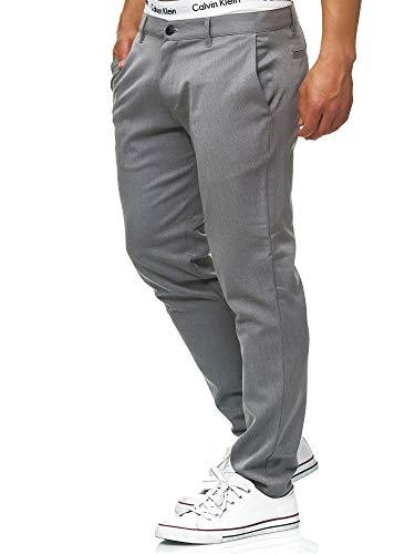 Indicode Herren Rodekro Chinohose Super Stretch mit 4 Taschen | Lange Chino Hose Herrenhose Männerhose gerader Schnitt Bequeme Regular Fit Stoffhose für Männer Grey Mix 34/32