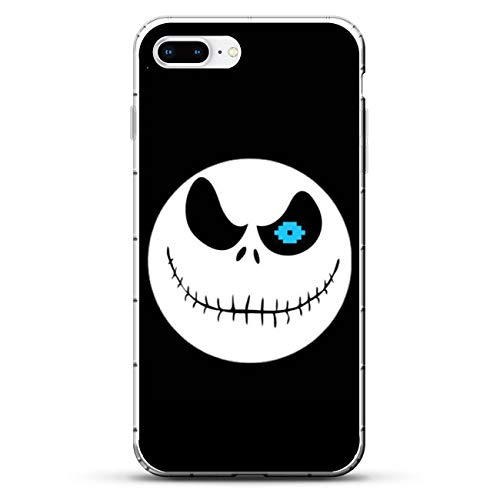 X-Art Transparent Fundas Slim Liquid Flexible Case Back Cover for Apple iPhone 7 Plus/8 Plus-Christmas-Nightmare Jack-Skellington 5