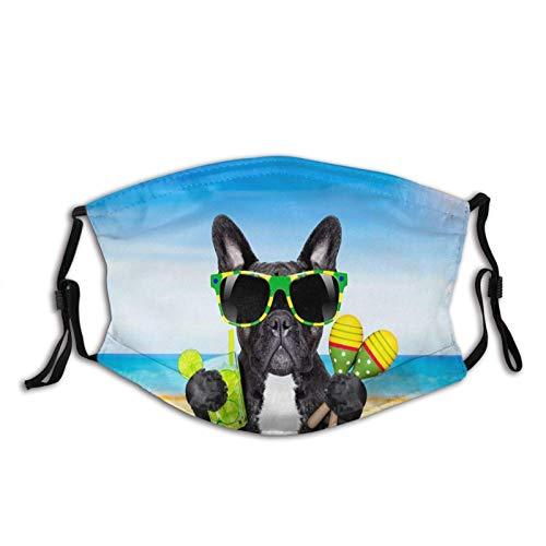 SOUL-RAY tema Bulldog francese antipolvere, trasparente, con filtro, moda, maschera unisex (con 2 filtri)