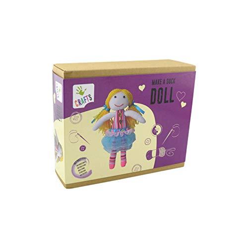 Andreu Toys 1240088 Make A Sock Doll Argile et pâte à Modeler Multicolore
