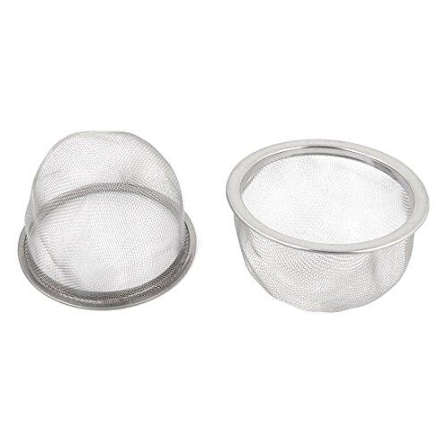 TOOGOO 2 piezas Escurridor de acero inoxidable Colador de te de malla Filtro de tetera Plata