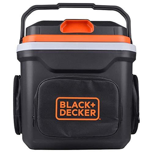 BLACK+DECKER BDC24L Thermoelectric Portable Automotive Car Beverage Cooler & Warmer, Black/Orange -24 Liters (BDC24L-B1)