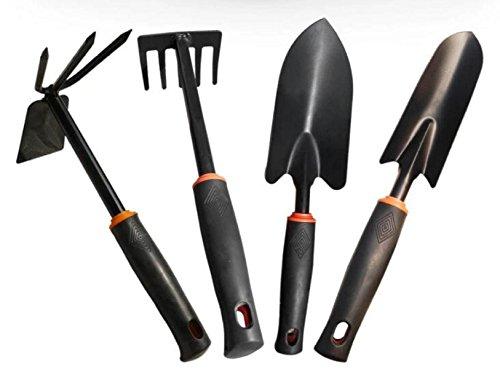 Wicemoon Noir jardinage trois pi/èces Pelle B/êche R/âteau Pelle creuser Truelle Fourche jardinage Outils avec manche en bois Ensemble