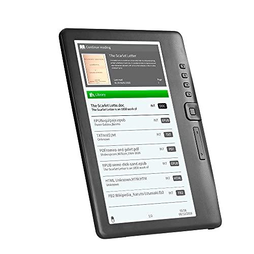 IKAYAAA BK7019 Tragbarer E-Book-Reader 16 GB 7-Zoll-Multifunktions-E-Reader-Hintergrundbeleuchtung Farb-LCD-Bildschirm
