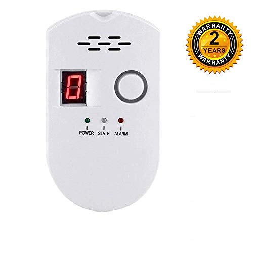 Natural Gas Detector,Propane Detectors for Home,Natural Gas Propane Leak Alarm for Home Kitchen, High Sensitivity Natural Gas Propane Leak Detection