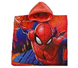 Spiderman Marvel Bademantel/Kapuzen Poncho für Kinder, 100% Baumwolle (Frottier)