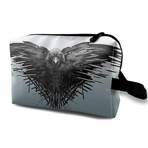 Neceser bolsa de viaje Cool Raven Espadas Juego de Tronos Bolsa de maquillaje para mujeres y niñas