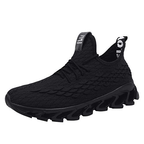 Suitray Herren Turnschuhe Rot Mode Mesh Atmungsaktiv Sportschuhe Geflochtene Schnur Sneaker Cool Laufschuhe Joggingschuhe Sport Schuhe Freizeitschuhe Männer Streetwear Schuhe Sneaker Boots Stiefel