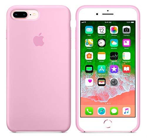 Desconocido Funda para iPhone, Silicona Rosa Chicle Logo Apple Carcasa iPhone (iPhone 7/8)