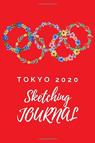 """TOKYO 2020 Journal and Sketchbook for girl:Composition Size (110 Pages, Lined Blank 6""""x9"""") with Blank lined notebook,S"""