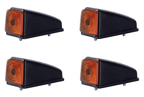 4 x Orange Dachleuchte Begrenzungsleuchte Seitenleuchte 12V 24V mit E-Prüfzeichen Positionsleuchte Auto LKW PKW KFZ Lampe Leuchte Licht Gelb Birne