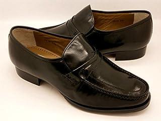 【marelli】マレリー高級キッド革モカシーノビジネスシューズ0974(ブラック)4Eワイズ (25.0cm)