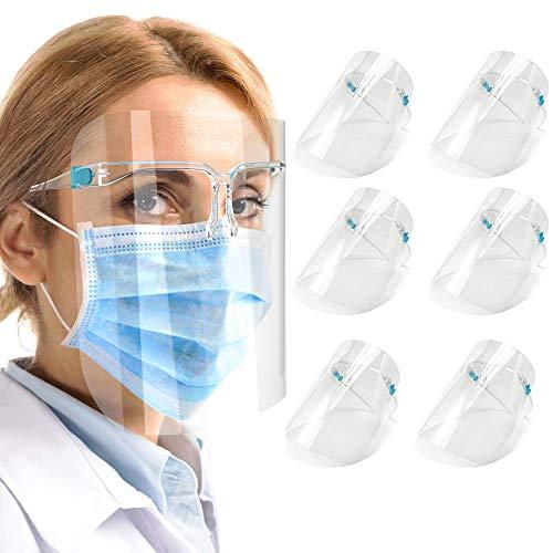 ShaggyDogz 6 PACK Glasses Style Visor Transparent Anti-Fog Layer Anti Air Dust Cover,Unisex Mouth Cover, Reusable Glasses Style Anti-Fog Plastic for Daily Use (GFS-01)