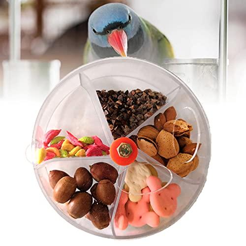 Mawaki 小鳥トレーニングおやつボールインコの用品 鳥の餌入れ 知育用品 フォージング 掛けタイプ 知育用品 鳥フードフィーダーセキセイインコやオカメインコ小動物に(透明)