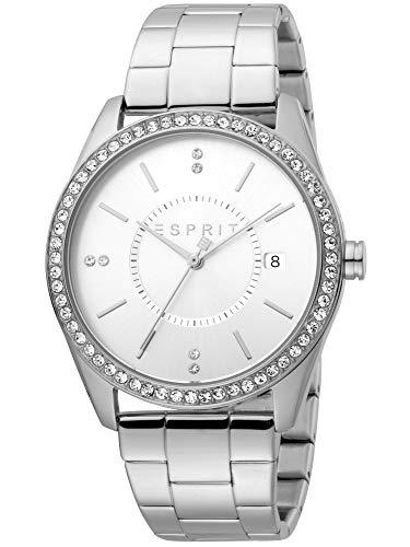Esprit ES1L196M0055 Carlin Silver Uhr Damen-Uhr Edelstahl Datum Silber