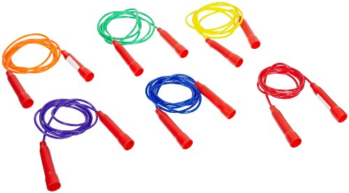 Sportime Jump Ropes, 7 Feet, Assorted Colors, Set of 6 - 1004676
