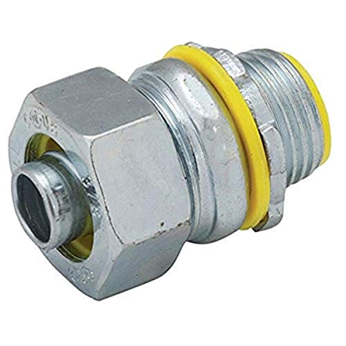 """Hubbell-Raco 3514RAC Liquid Tight Connector, Steel, Insulated, 1"""" (Pack of 10)"""