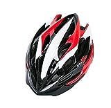 WANGSCANIS Casco de Bicicleta para Adultos Casco Bici Unisex Ajustable para Ciclismo de Montaña y Carretera Casco Bicicleta con Protección Seguridad para Hombres y Mujeres, Negro & Rojo & Blanco