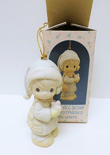MPM Precious Moments - Adorno de Navidad, diseño con Texto en inglés Be White