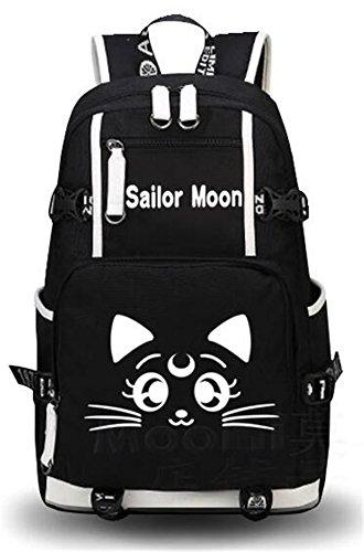 YOYOSHome Luminous Anime Code Geass Rucksack Tagesrucksack Laptoptasche Büchertasche Schultasche, Seemann Mond 1 (Schwarz) - yyyo3