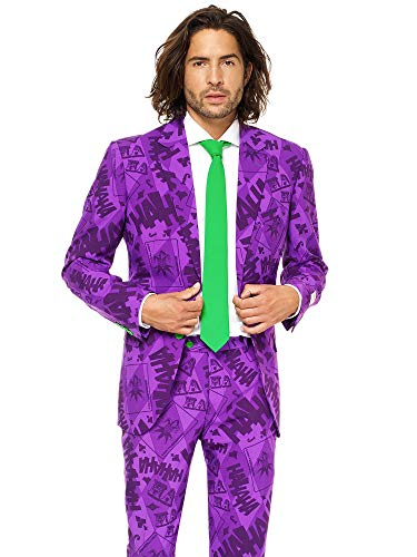 Opposuits Licensed Halloween Costumes for Men - Full Suit: Jacket, Pants and Tie, The Joker,52
