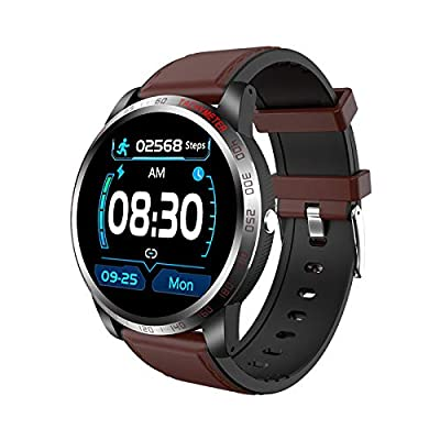 NiceFuse Smart Watch, Fitness Tracker with Heart Rate Monitor Blood Oxygen Saturation Meter Sleep Monitor, Waterproof Smartwatch Compatible with iPhone Samsung Android Phones