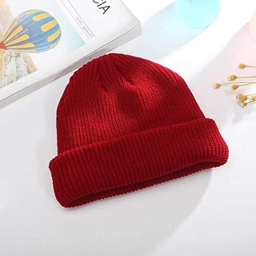 Xme Autumn and winter short knit hat, Baotou wool cap, landlord melon cap