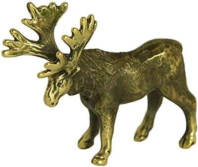 CTOC Elk Bronze Statuette Handmade Figurine Souvenir 19906