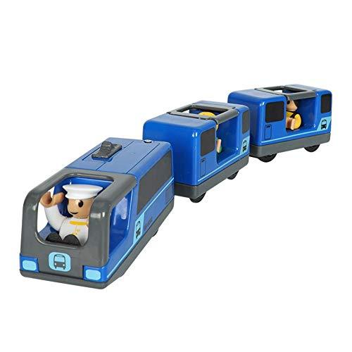 Hearthrousy Eisenbahn elektrische lok Holzeisenbahn Zug Elektrische Spielzeug Magnetisch Zug Kinder Lokomotive Kompatibel mit Holzschienen Kinder Spielzeuglok Junge Mädchen Spielzeug