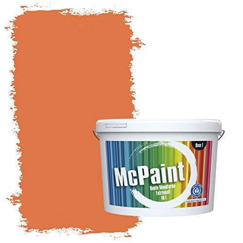 McPaint Bunte Wandfarbe extramatt für Innen Aprikose - 2,5 Liter - Weitere Orange Farbtöne Erhältlich - Weitere Größen Verfügbar