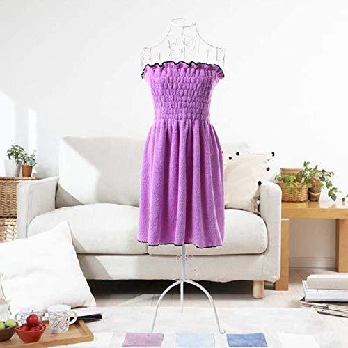 IAMZHL 1 Pieza Toallas de baño de Tela de Microfibra Moda Dama Falda de baño usable Toalla de baño Vestido Toalla de Playa para Adultos Toalla de baño sólida-Purple