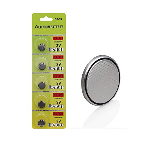 Cotchear 5pcs/Card 3V CR1220 Coin Battery Lithium DL1220 LM1220 ECR1220 1220 Button Cell Batteries for Watch Electronic Remote
