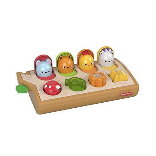 Fisher Price GJW24 - Guck-Guck-Spielzeug, fördert die Feinmotorik, aus Holz und weichen Materialien, Aktivitätsspielzeug für Babys ab 9 Monaten