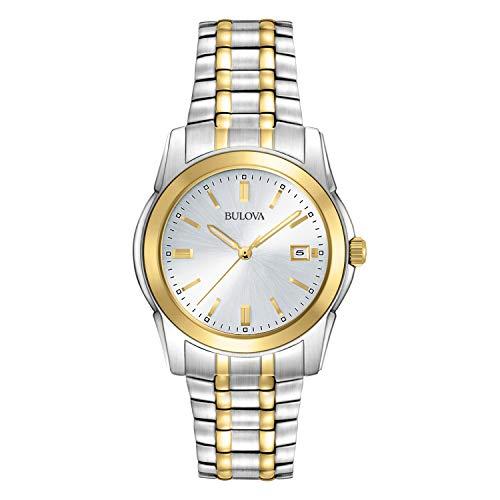 Bulova Relógio masculino 98H18 com pulseira de dois tons