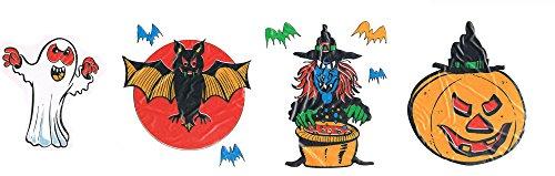 festi fiesta 2 électrostatiques Halloween fantôme, sorcière, Chauve-Souris Halloween Decoration