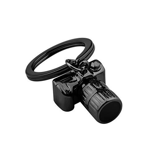 ENSIANTH Fotógrafo regalo cámara llavero fotografía regalo negro cámara encanto joyería regalos para los amantes del fotógrafo, little, Acero inoxidable, Acero inoxidable.,