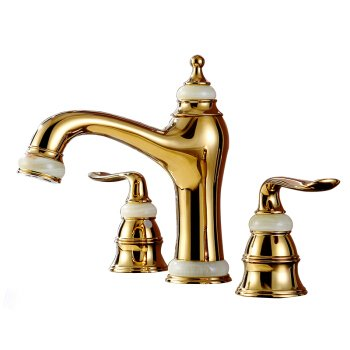 Buy Discount Modern Simple Brass Constructed Polished Hot And Cold Basin Sink Faucet Bathroom Sink F...