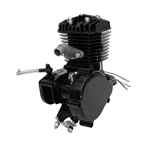 "Hohaski 80cc Bike Bicycle Motorized 2 Stroke Cycle Petrol Gas Motor Engine Kit Full Set Fits for Most 26"" Or 28"" Bikes (Black)"